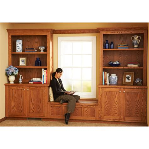 design and install built in bookcases woodworking plan