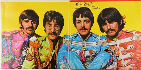 the beatles sgt peppers lonely hearts club band lot detail the beatles paul mccartney rare signed album