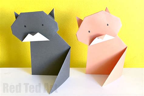 how to make origami cat origami cat ted s