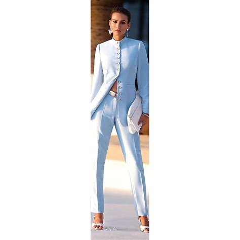 blue martini uniform light blue womens pant suit suit la