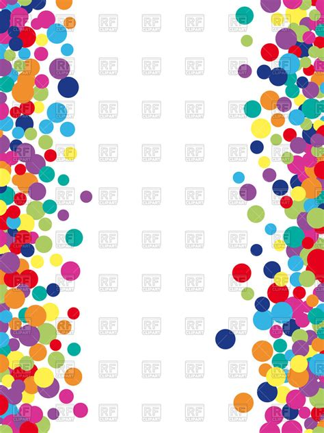 colorful borders colorful abstract spot border vector image vector