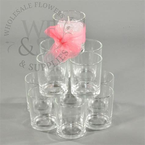 Cylinder Candle Holders by 12 Pack Clear Glass Cylinder Votive Candle Holder