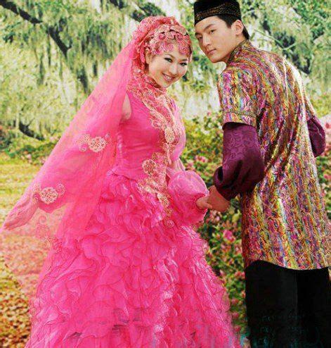 warna pink moslem pink wedding dress pink moslem wedding dress gaun free shipping new muslim hui marriage gauze pink classic