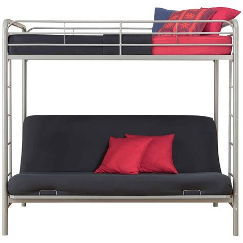 bunk beds size bottom size bunk bed with futon on bottom