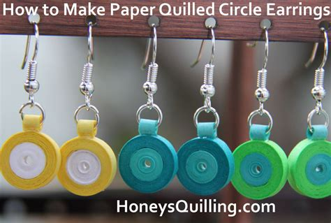peacock design paper quilled earrings tutorial honey s free tutorial for paper quilled circle earrings honey s