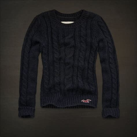 womens navy blue cable knit sweater hollister clothes for hollister womens navy blue