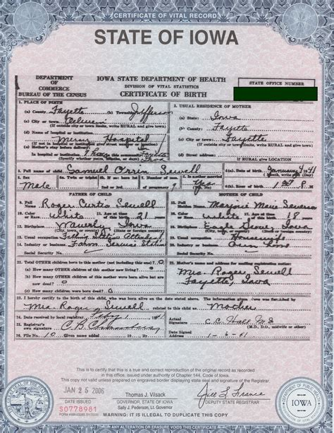 State Of Iowa Birth Records Give Us Liberty