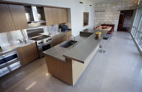 polished concrete kitchen floor dream home kitchen