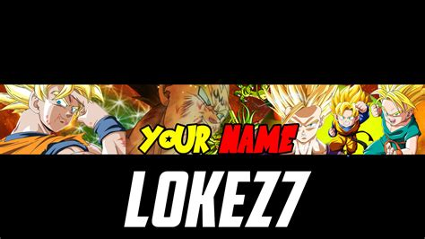 Dragon Ball Z Banner Psd Template By Lokez7 Youtube Z Banner Template