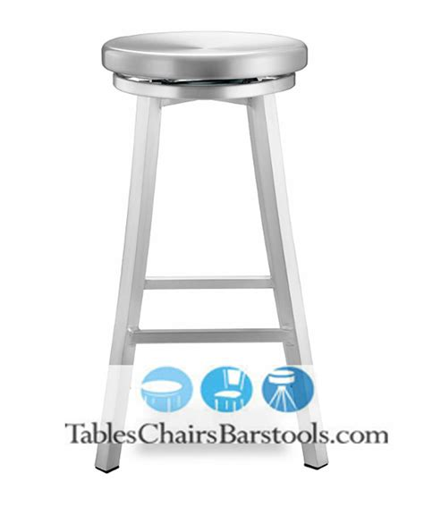 Aluminum Bar Stools Backless by Backless Outdoor Brushed Aluminum Bar Stool In Shipyard