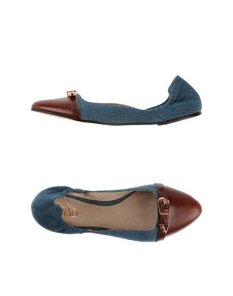diesel flat shoes diesel ballet flats in brown lyst