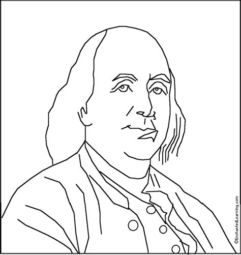 Benjamin Franklin Coloring Pages joseph siffred duplessis page benjamin franklin