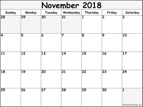 blank november 2017 to april 2018 calendar 6 monthly template