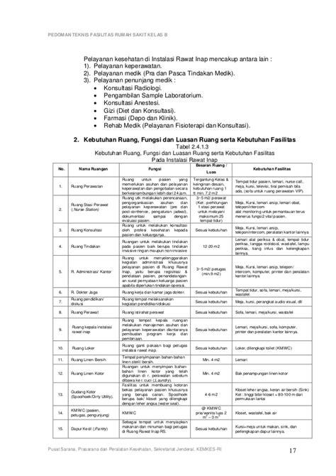 Resume App Di Ruang Ok Pedoman Teknis Sarana Dan Prasarana Rumah Sakit Kelas B