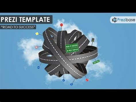 prezi templates 3d 3d road to success prezi template