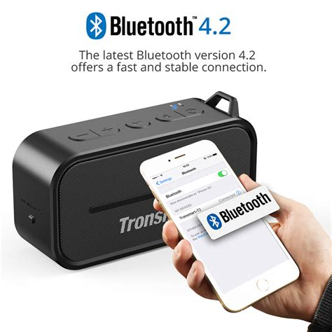 Tronsmart Element Portable Waterproof Bluetooth Speaker T2 מוצר tronsmart element t2 bluetooth 4 2 outdoor water resistant speaker portable and mini