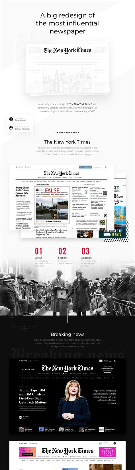 Design Editor New York Times | editorial design the new york times redesign concept