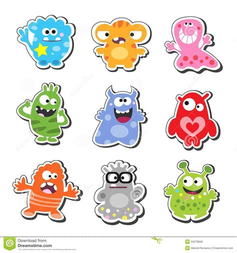 Cartoon monsters stock vector image of collection creation 34278845