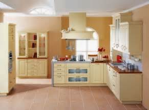 yellow paint color ideas for modern kitchen with oak
