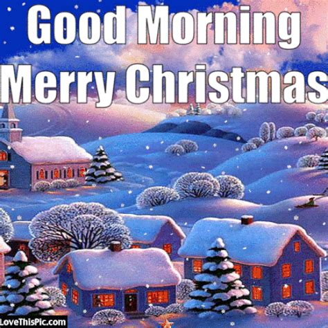 good morning merry christmas image quote  snow good morning christmas merry christmas