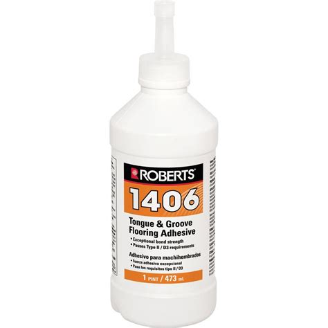 Laminate Floor Glue by 1406 16 Oz Tongue And Groove Adhesive In Pint