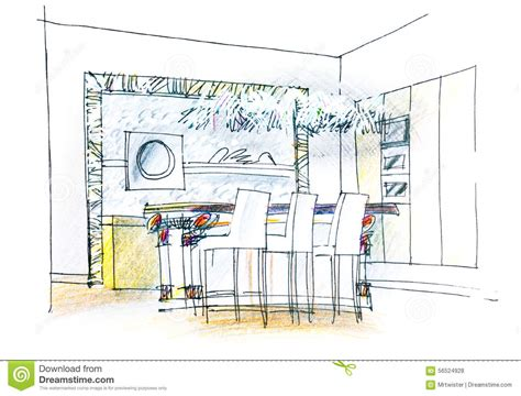 Living Room Interior Sketch Table by Dining Table Sketch Stock Photo Image Of Perspective