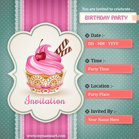 birthday invitation card maker free create birthday invitations card free