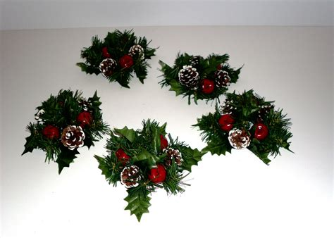 christmas candle rings taper candle rings pine candle rings