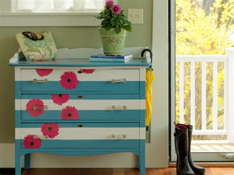 diy painted furniture how to make a striped and floral dresser how tos diy