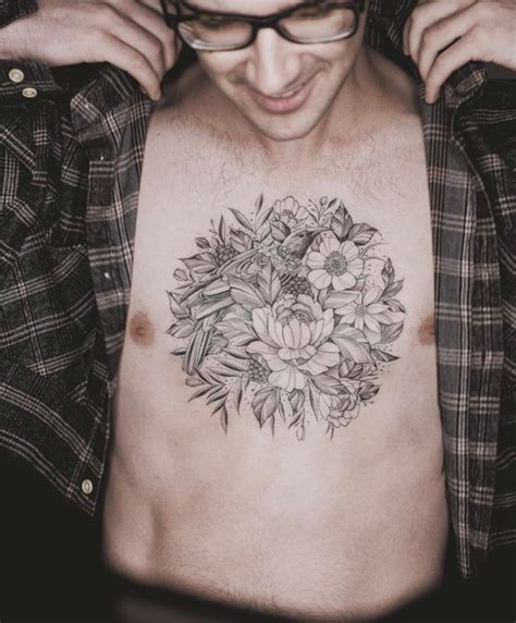 floral chest tattoo floral chest fashioviral net leading lifesyle