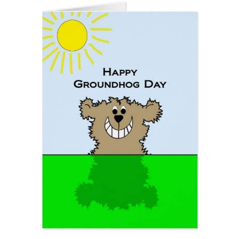 groundhog day cards happy groundhog day greeting card zazzle