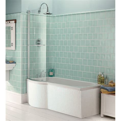 shower bath panels indulgence shower bath 1500mm lh with acrylic front end panel inc shower screen buy at