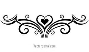 tattoo designs with heart tribal elements vector