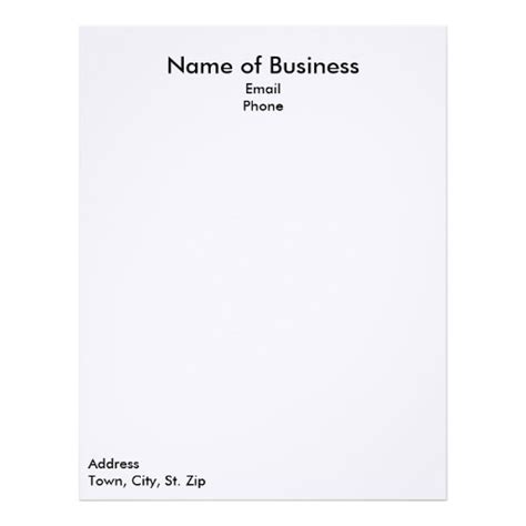 plain business letterhead template plain letterhead custom plain letterhead templates zazzle