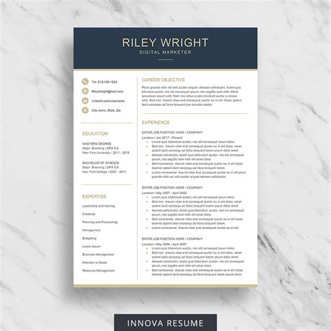 Resume Template Etsy 10 best etsy resume templates graphicadi