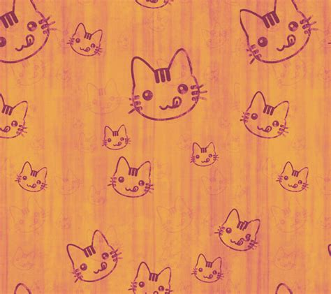 kitten pattern background patterns cat kitten cute cartoon yellow adorable
