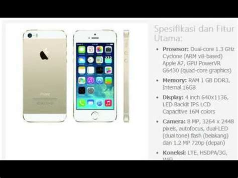 Hp Iphone 5 16gb harga hp apple iphone 5s gold 16gb