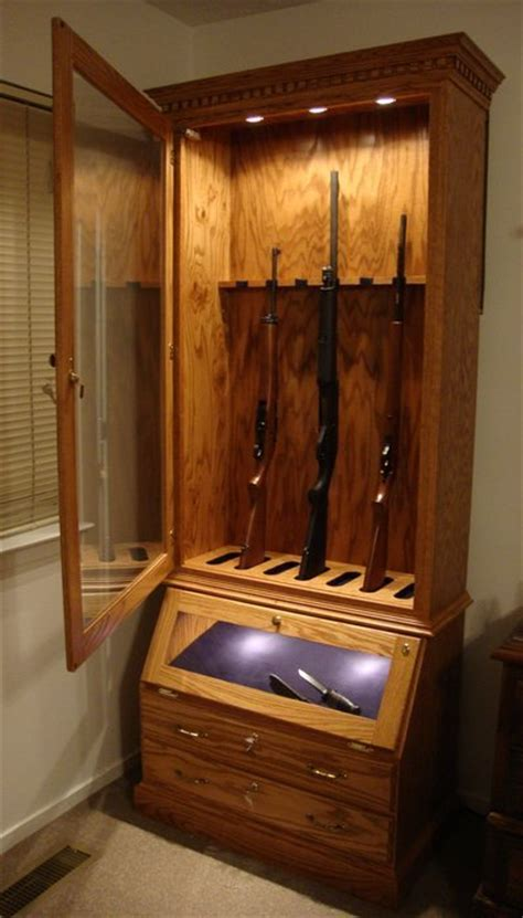woodwork plans  glass fronted gun cabinet photo  plans