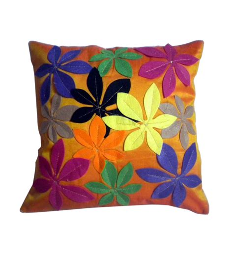 Patchwork Designers - jbg home store orange patchwork design cushion cover set