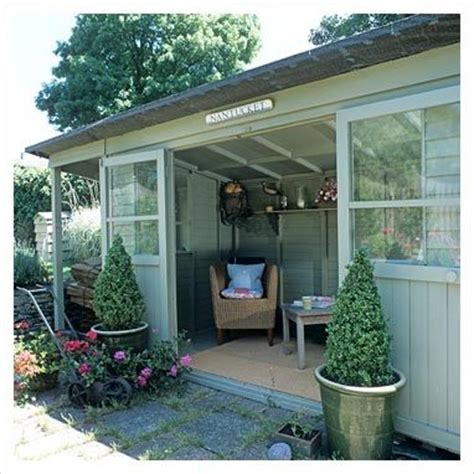 summer house interiors painted sheds painted green and white summerhouse shed house and home pinterest painted