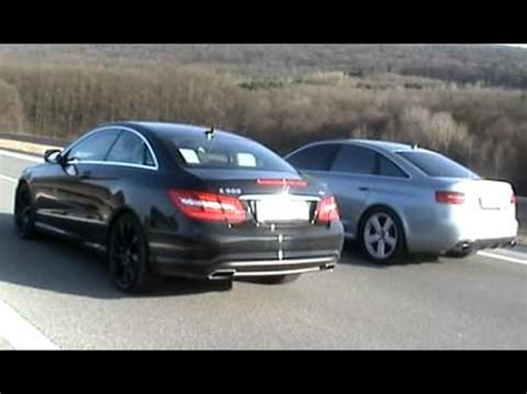 Audi Rs6 Coupe by Mercedes E500 Coupe 2009 Vs Audi Rs6 2009