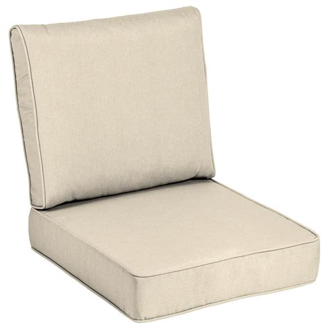 Home Depot Chair Cushions - home decorators collection sunbrella canvas flax outdoor