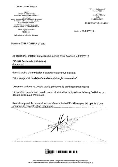 Modèle Lettre De Voiture Zahia Dehar On Quot Voici Les Images Du Scanner Thoracique Et Le Certificat Affirmant Que