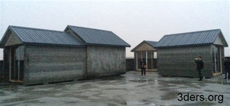 Shanghai 10 Completely 3d Printed Houses Built Under A 3d House Building Printer
