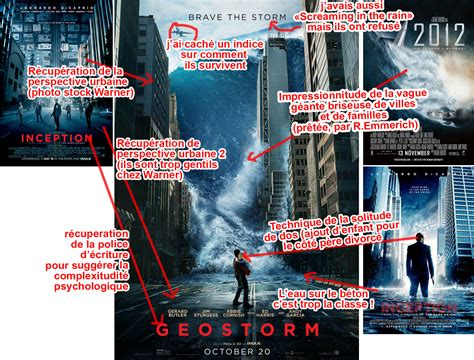 film geostorm geostorm l affiche du cross over inception et 2012 le