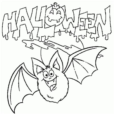 carton color 8 halloween bat coloring pictures