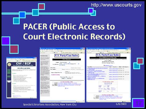 Access To Court Records Pacer Access To Court Electronic Records Tracking Records Bob