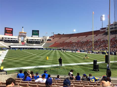 what is section 17 los angeles memorial coliseum section 17 rateyourseats com