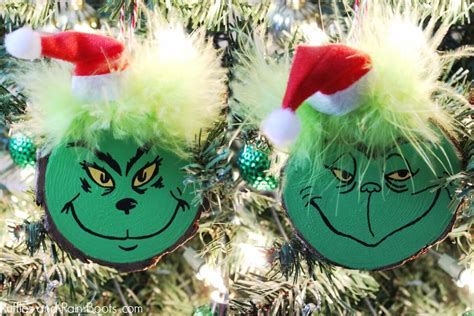 diy grinch ornament set   christmas tree  gifts