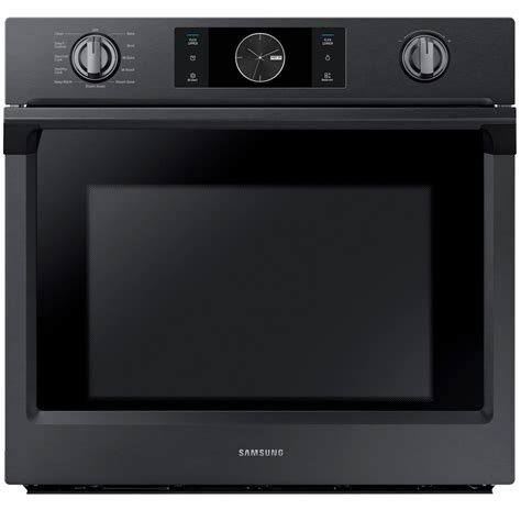 samsung 30 in single electric wall oven self cleaning with steam cooking and dual convection